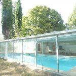 La piscine de l'école de Beauvallon où se déroule le Stage taichi qigong aikido méditation de Dieulefit pendant l'été 2018