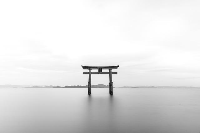Tori une porte au japon
